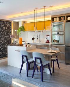 Small modern kitchen, modern small kitchen design, kitchen island ideas for small . - Small modern kitchen, modern small kitchen design, kitchen island ideas for small … - Small Modern Kitchens, Small Space Kitchen, Modern Kitchen Design, Interior Design Kitchen, Home Kitchens, Kitchen Designs, Modern Spaces, Tiny Kitchens, Awesome Kitchen