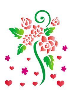15x20 Simples - Flores Rosas Romanticas - OPA756