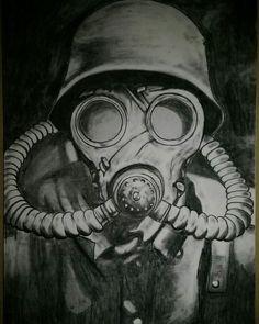 Toxic mask drawing