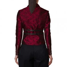 Rhona Gothic Brocade Jacket for Women | Vintage Goth | An intricate jacket that is an elegant take on the gothic fashion culture. While its bright looks and sensational features are to die for; its sexy fit and sophisticated design is what makes it stand out!