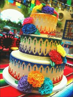 Wedding cake for my mexican themed wedding ;) love
