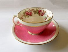 English Melba Bone China Tea Cup and Saucer by FieldsOfVintage