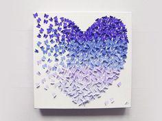 DIY tutorial: 3D Butterfly Wall Art  via DaWanda.com