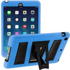 iPad Mini 3 Case, i-Blason Apple iPad Mini / iPad Mini with Retina Display Case ArmorBox 2 Layer Convertible [Hybrid] Full-Body Protection KickStand Case with Built-in Screen Protector for Kids Friendly (Blue/Black) Id Design, Mini Apple, Backpack For Teens, Ipad Air Case, Ipad Mini 3, Retina Display, Display Case, Apple Ipad, Computer Accessories
