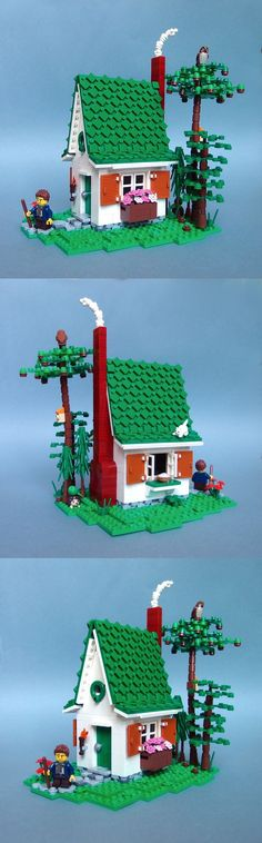 I love the shingled roof. Clever use of small pieces!! ~Small LEGO house from fairy tale