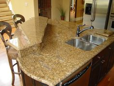 Breakfast bar with raised counter.