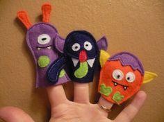 SAM Finger Puppets - Little Monsters
