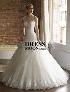 Gorgeous Sweetheart Tulle with Lace Wedding Dress - A-Line Dresses - Wedding Dresses - Weddings