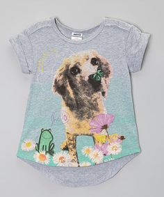 Love this Rainbow Hearts Boutique Gray Labrador Hi-Low Tee - Toddler & Girls by Rainbow Hearts Boutique on #zulily! #zulilyfinds