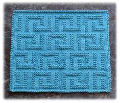 Greek Key Design Dishcloth Pattern by Knits by Rachel, via Flickr