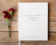 Wedding Guest Book Wedding Guestbook Custom by starboardpress