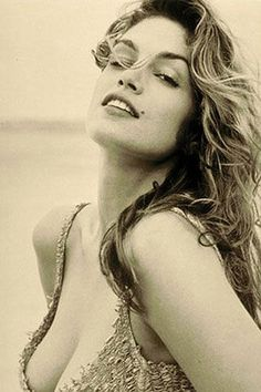 Cindy Crawford for 1994 Pirelli calendar by Herb Ritts                                                                                                                                                                                 More