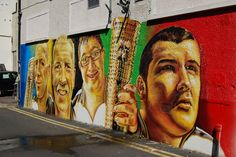 olympic torch bearers mural by www.artisanartworks.com