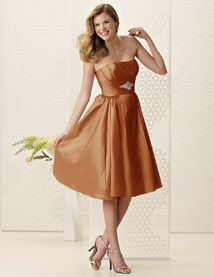 Jordan Bridesmaid Dresses - Style 962 - In Copper (Can also come in Sable, which is a bronzy look) - Can be ordered in ANY length