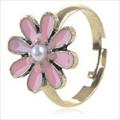 Delicate Flower Design Finger Ring Ornamental Jewelry Finger Decor for Lady
