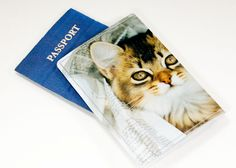 Cat Passport Cover - Recycled Paper Passport Cover with Brown and Black Kitten. $12.00, via Etsy.
