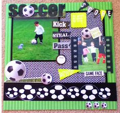 Soccer Scrapbook Layout Ideas   Soccer Scrapbook Pages