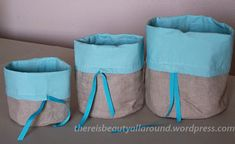 Follow these instructions to make yourself some beautiful fabric baskets to store all sorts of treasures. And if you have any sewing tips to offer, please feel free to leave a comment below. Suppli…