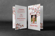 Printable Funeral Program Template by Madhabi Studio on @creativemarket