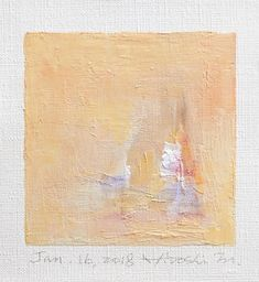 Jan. 16 2018  Original Abstract Oil Painting  9x9 painting