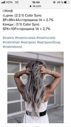 Matrix Hair Color, Hair Color Formulas, Hair Hacks, Hair Tips, Grey Hair, Silver Hair, Hair Goals, Beauty Hacks, Hair Beauty