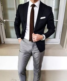 Awesome look can be created with a blue or black blazer as well as optional suspenders. #virileman5