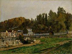 アルフレッド・シスレー 《マルリーの水飼い場》 1873年