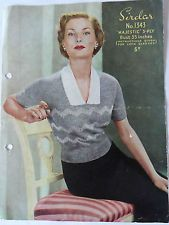 Original 1950's Vintage Knitting Pattern Lady's Jumper in 3 Ply Sirdar 1343