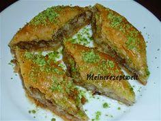 Baklava mit Walnüsse-Baklava mit -Cevizli baklava,meinerezepte,meinerezeptwelt,Türkische rezepte,Türkische Küche