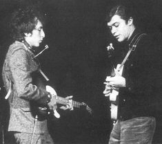 Bob Dylan and Robbie Robertson, Chicago, 1965.