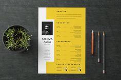 30 Unique Resume CV Templates With Interesting (Creative) Resume Ideas 2020 Portfolio Web, Portfolio Resume, Portfolio Design, Portfolio Examples, Resume Design Template, Cv Template, Conception Cv, Basic Resume, Visual Resume