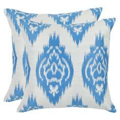 """2-Pack Cornflower Damask Toss Pillows - Blue (18x18"""") Target FIND."""