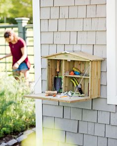 Potting Cupboard - Storage for Garden Shed, Porch or Patio