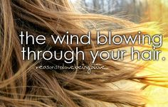 i love that moment when the wind blows your just right so that you feel like you are in a movie