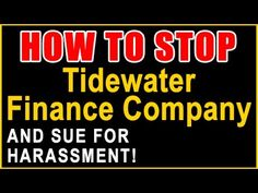 Tidewater Finance Company Calling? | Sue and Get Up to $1,500 Per Call |...