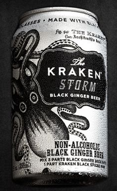 Named for a Sea Beast of myth and legend, The Kraken Rum is strong, rich and smooth. Release The Kraken. Fun Drinks, Alcoholic Drinks, Cocktails, Kraken Rum, Rum Recipes, Recipies, Beer Packaging, Ginger Beer, Beer Label