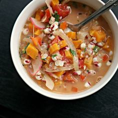 latin corn soup