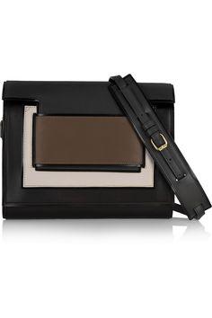 Pierre Hardy|Color-block leather clutch |NET-A-PORTER.COM