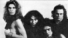 Eddie Van Halen, David Lee Roth, Michael Anthony and Alex Van Halen