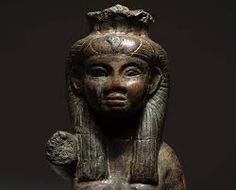 Ancient Egyptian bronze statue of the Goddess Aset (Isis in Greek), dating to the 25th (Kushite) dynasty