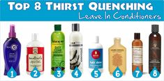 A post listing 8 great hair conditioners for dry thirsty hair