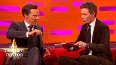 [Video] Benedict Cumberbatch & Eddie Redmayne. THE GRAHAM NORTON SHOW. Magic tricks clip. October 28, 2016. (3:47)
