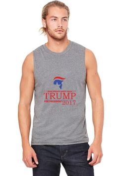 trump for president 2016 make america great again funny Muscle Tank