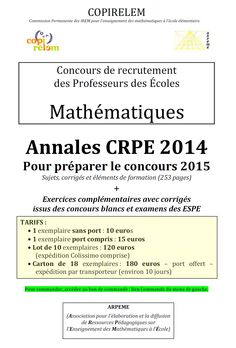 ARPEME - Annales MATHS  http://www.arpeme.fr/index.php?id_page=18