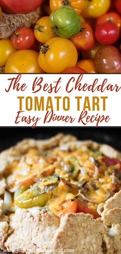 With tomatoes starting to come in season, making this delicious cheddar tomato tart needs to be on your list. It is simple to make and tastes absolutely perfect. Cheese and tomatoes all baked together with the perfect topping. Easy Dinners For Two, Easy Healthy Dinners, Dinner Healthy, Best Dinner Recipes, Great Recipes, Veggie Recipes, Healthy Recipes, Appetizers For A Crowd, Vegetable Sides