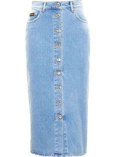 MSGM | Denim Midi Skirt #msgm #midi #skirt