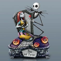 Tim-Burton-NIGHTMARE-BEFORE-CHRISTMAS-Now-and-Forever-MUSICAL-Figurine-NEW