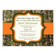 Printable rustic woodland camo baby shower invitation baby hunting camo baby boy shower invitation filmwisefo
