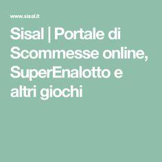 Sisal | Portale di Scommesse online, SuperEnalotto e altri giochi