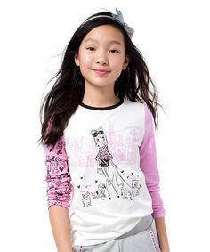 This Pink & White Walk in the Park Tee - Girls is perfect! #zulilyfinds